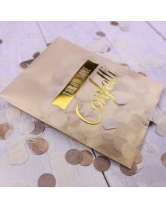 Tissue Paper Confetti - Gold and Ivory