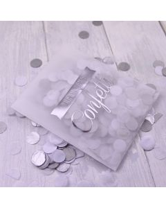 Tissue Paper Confetti - Silver and White (Kraft Box)