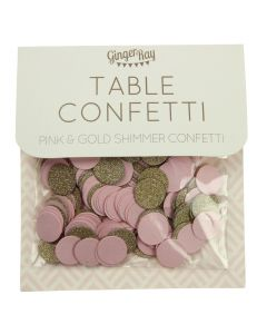 Table Confetti - Pink and Gold Shimmer