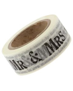 Mr and Mrs Newsprint Paper Tape