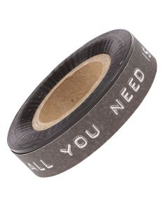 All You Need Is Love Black Paper Tape