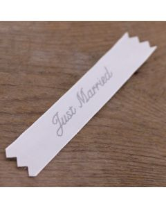 'Just Married' Fabric Label