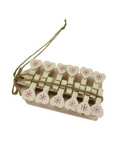 Snowflake Heart Peg and Tag Set