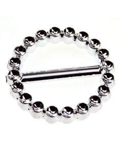 Circle Faux Diamante Buckle (30mm)