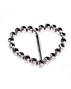 Heart Faux Diamante Buckle (35mm)