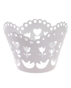 Laser Cut Birds, Flowers and Hearts Cupcake Wrappers