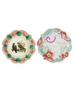 Pastries & Pearls Paper Plates - Bird Design