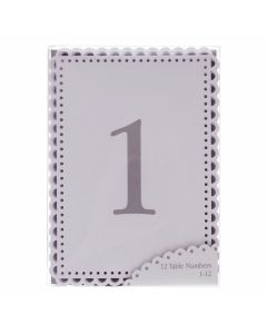 Something in the Air Lace Edged Table Number Cards