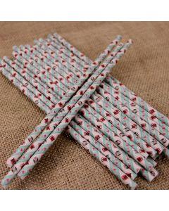 Patchwork Owl Paper Straws