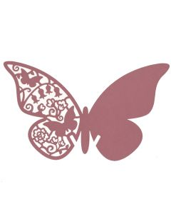 Laser Cut Butterfly Place Cards - Pink