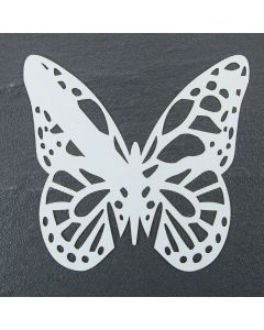 Laser Cut Butterfly Place Cards Iridescent White