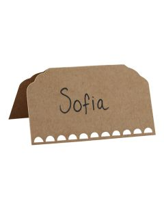 Place Cards - Plain Kraft with Writing