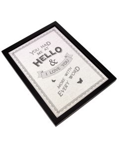Framed 'Hello' Print