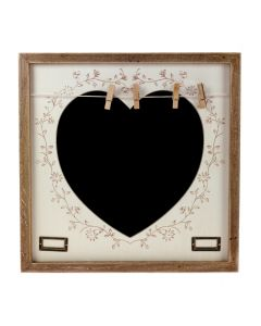 'Filigree Heart' Chalk Board with Pegs