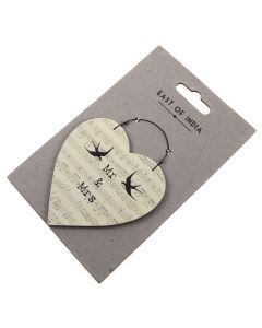 Mr and Mrs - Heart Gift Tag