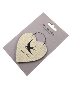 Love You - Heart Gift Tag