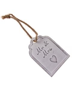 Mr and Mrs Metal Gift Tag