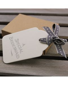 A Special Bridesmaid Shaped Tag