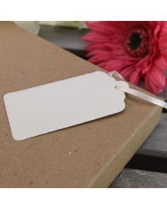 Glitter Edged Luggage Tags (Ivory)