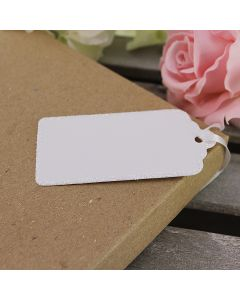 Glitter Edged Luggage Tags (White)