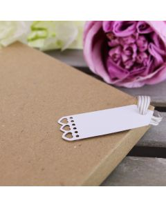 Heart Edged Tags Small (White)
