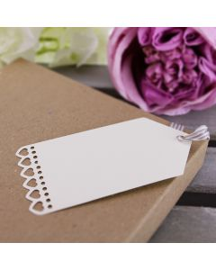 Heart Edged Tags Large (Ivory)