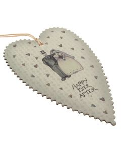 'Happy Ever After' Deckle Edge Tag