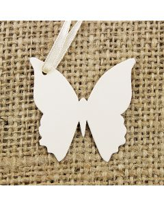 Dinky Butterfly Tags (Ivory)
