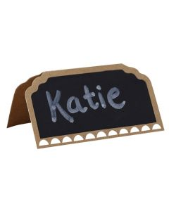 Place Cards - Chalkboard Kraft with Chalk Writing