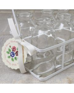 School Milk Bottles in Carry Crate - Detail