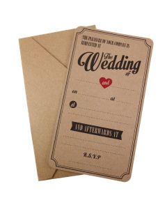 Kraft Wedding Invitations - Vintage Affair - with envelope