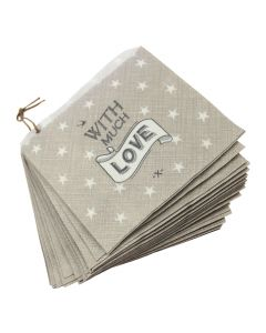 With Much Love Strung Paper Bags