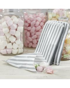 White and Silver Grey Candy Bags