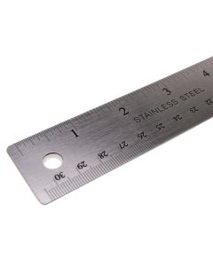 X Cut 12' Stainless Steel Ruler - Detail