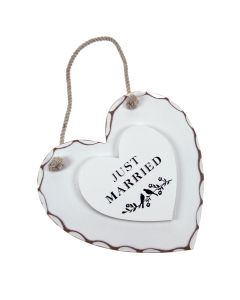 'Just Married' Heart Decoration