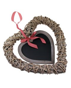 Heart Wreath Hanger with Chalkboard