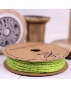 Hessian String - Lime