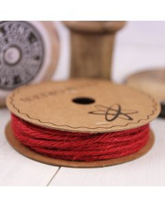Hessian String - Red