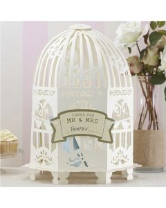 Birdcage Card Holder - Ivory