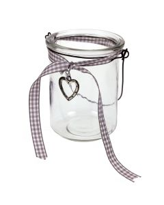 Heart Charm Hanging Jam Jar