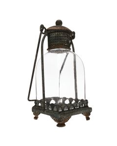 Rustic Metal and Glass Lantern