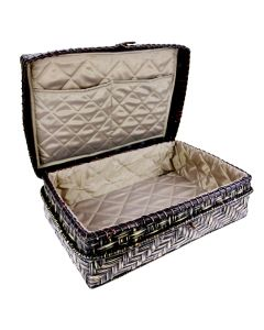 Wicker-Style Storage Case - Open