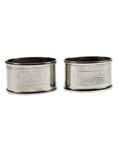 Napkin Rings 'Madame and Monsieur'