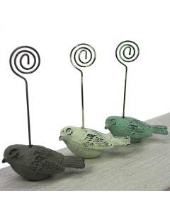 Set of 3 Vintage Bird Table Name Holders