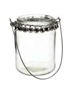 Decorative Hanging Jar with Silver Bells