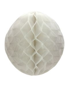 Large Round White Honeycomb Paper Decoration