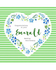 Congratulations on your Emerald Wedding Anniversary Card