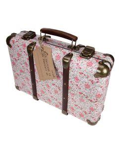 Floral Suitcase - Vintage Roses - Upright