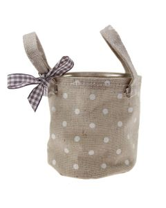 Country Polka Bag with Glass Inner