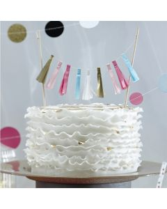 Tassel Cake Bunting Topper - Confetti Party